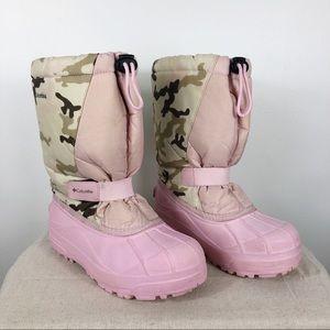 Columbia Powder Bug Camo Boots Waterproof